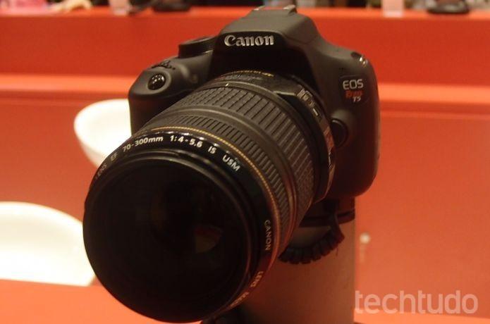 Câmera DSLR Canon EOS Rebel T5 (Foto: Pedro Zambarda/TechTudo)