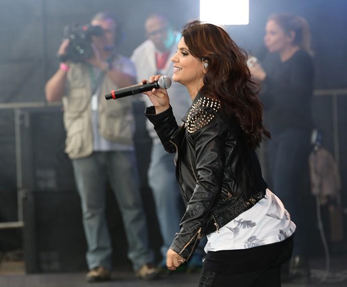 Aline Barros cantou seus sucesso e colocou o público para cantar (Foto: Carol Caminha/Gshow)