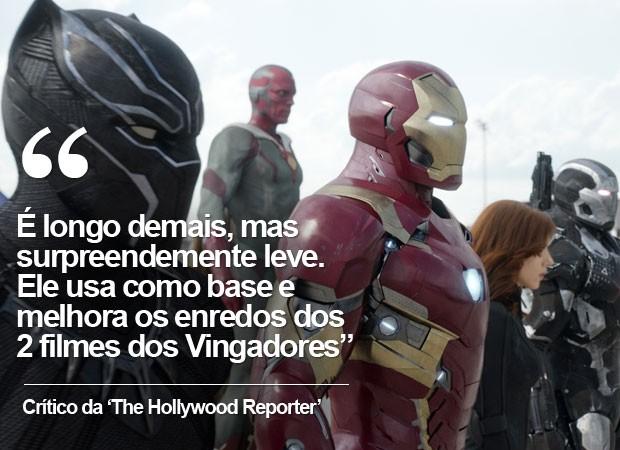 crítica da 'Hollywood Reporter' a 'Capitão América: Guerra civil' (Foto: G1)