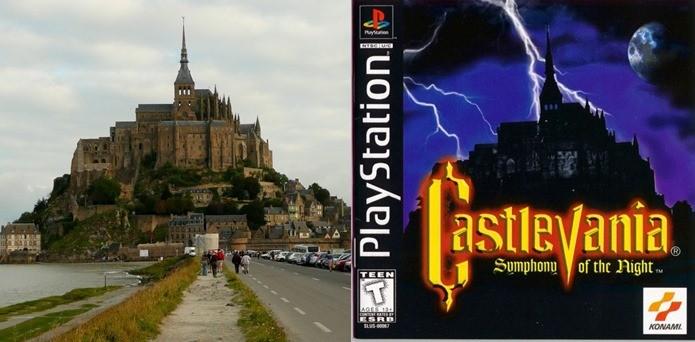 Castelos reais aparecem nas capas dos jogos de Castlevania (Foto: Montagem / Dario Coutinho)