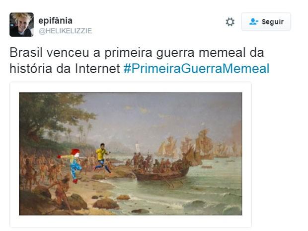 Guerra Memeal (Foto: Reprodução/Twitter)
