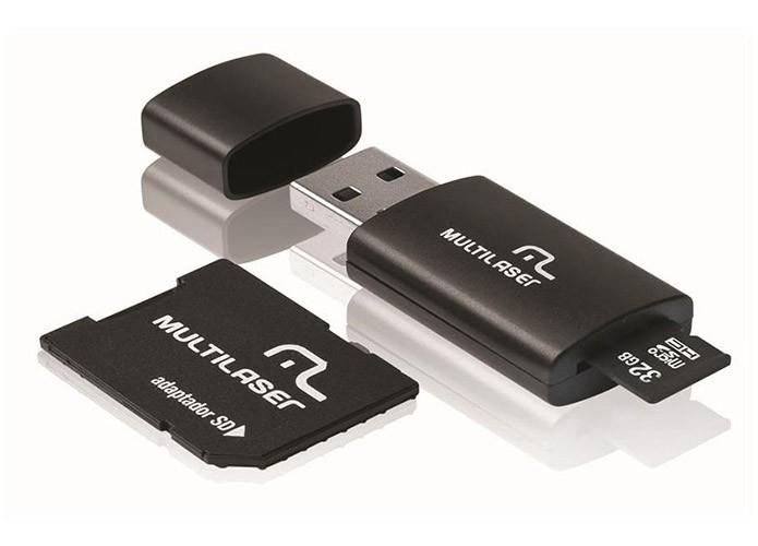 Cartão da Multilaser vem com adaptador USB (Foto: Divulgação)