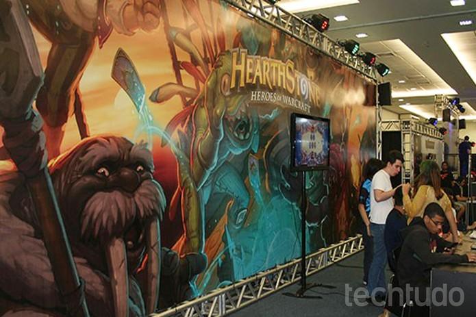 """Hearthstone foi um dos jogos disponíveis para """"free play"""" na BRMA  (Foto: Felipe Vinha/TechTudo)"""