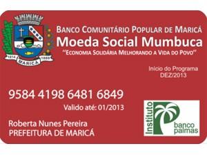 Cartão de débito da Bolsa Mumbuca (Foto: Divulgação/Instituto Palmas)