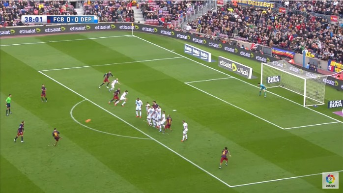 Messi gol falta La Coruña