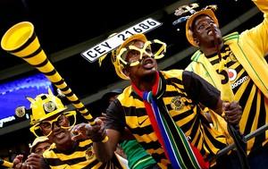 torcedor da Africa do Sul Copa da África (Foto: Reuters)