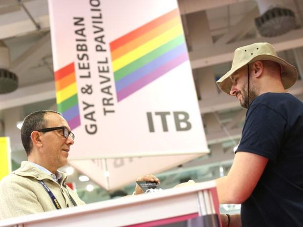 Pavilhão gay em feita de turismo ITB Berlim (Foto: Divulgação/ITB)
