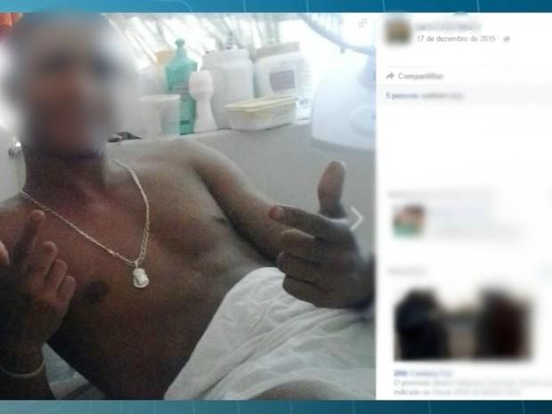 Presos postagem selfies de dentro de cela, diz Agepen (Foto: Reprodução/ TV Morena)