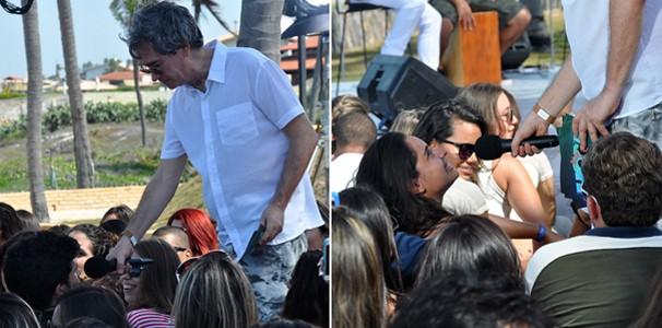 Público estava muito animado durante gravação do Altas Horas Verão no Ceará. (Foto: Luiz Gonzaga/TV Verdes Mares)