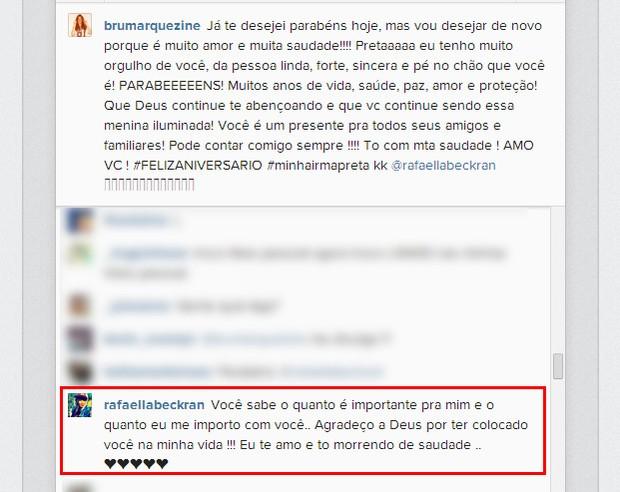 Rafaella Santos responde Bruna Marquezine (Foto: Instagram / Reprodução)