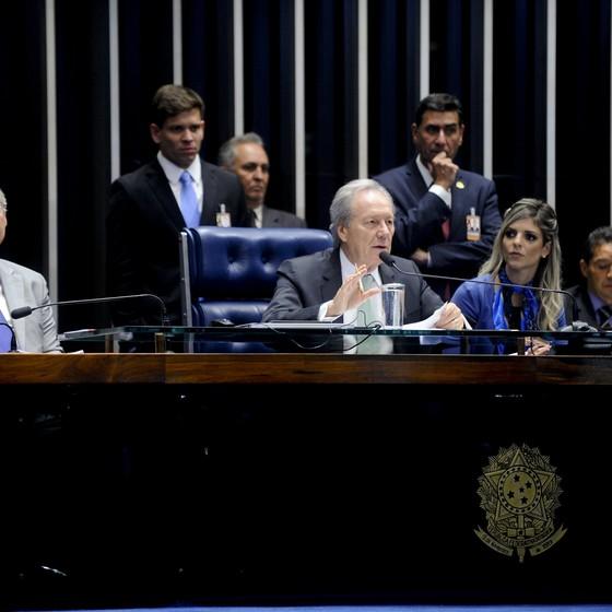 Plenário do Senado Federal durante sessão deliberativa extraordinária para votar  o processo de impeachment de Dilma (Foto: Marcos Oliveira/Agência Senado)