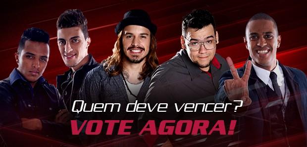 footer votação Final The Voice Brasil (Foto: The Voice Brasil/TV Globo)