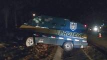 Quadrilha ataca carros-fortes em rodovia  (PM/Divulgação)