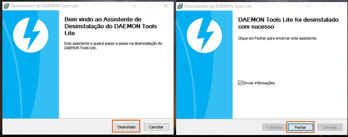 Aguarde o fim do processo de desinstalação do Daemon Tools (Foto: Reprodução/Barbara Mannara)