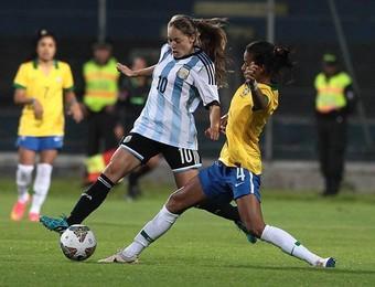 Estefanía Banini meia Colo-Colo argentina futebol feminino (Foto: Confederação Sul-Americana de Futebol/ Divulgação)