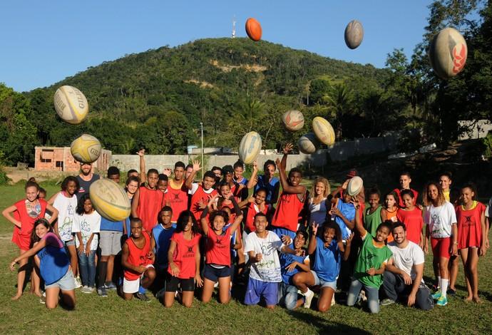 Rúgbi projeto social UmRio São Gonçalo (Foto: André Durão)