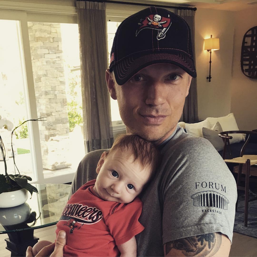 Nick Carter e o filho (Foto: Reprodução)