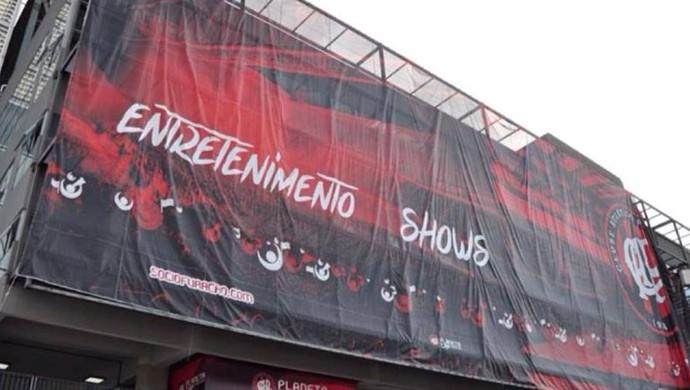 Banner; Arena da Baixada; Atlético-PR (Foto: Site oficial do Atlético-PR/Divulgação)