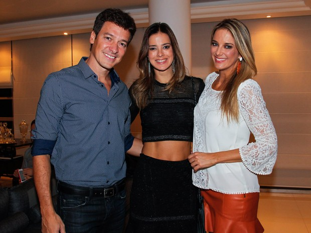 Rodrigo Faro, Vera Viel e Ticiane Pinheiro em evento em São Paulo (Foto: Manuela Scarpa/ Foto Rio News)