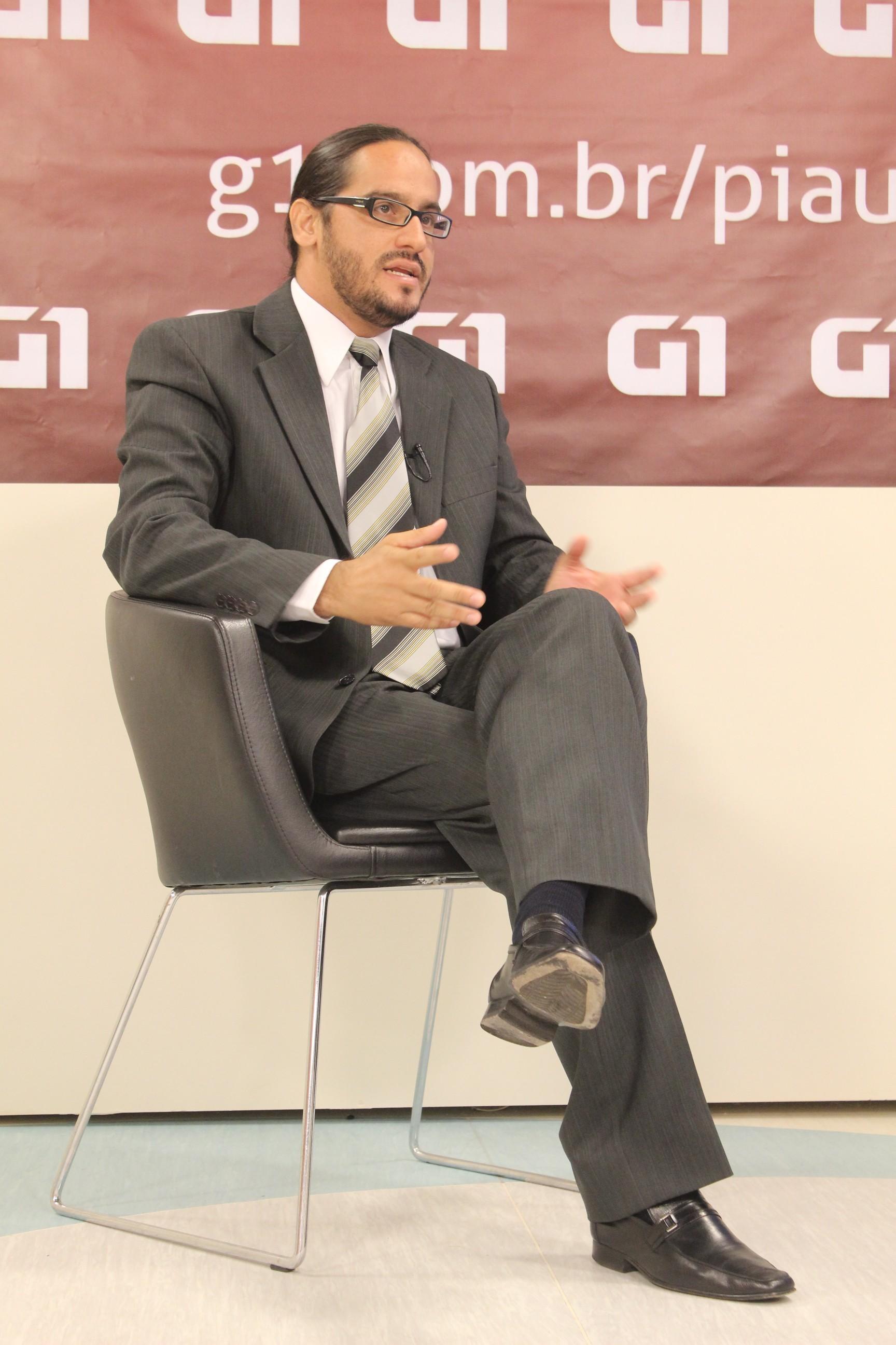 Maklandel durante entrevista ao portal G1 (Foto: Patricia Andrade/G1)
