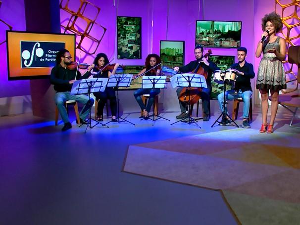 Integrantes da Orquestra Filarmônica de Paraisópolis se apresentam no Como Será? (Foto: Globo)