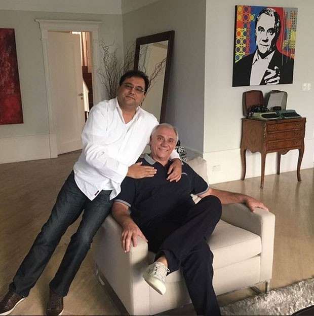 Geraldo Luis e Marcelo Rezende (Foto: Reprodução)