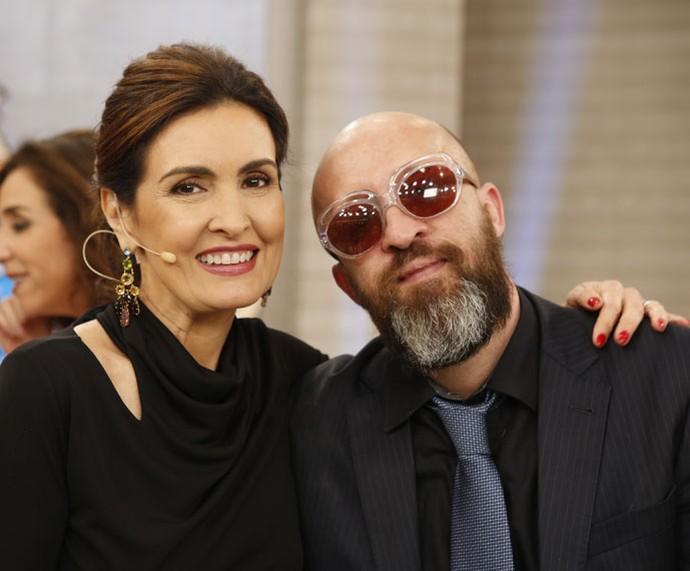 Fátima com o parceiro, Fabrício Carpinejar  (Foto: Ellen Soares/Gshow)