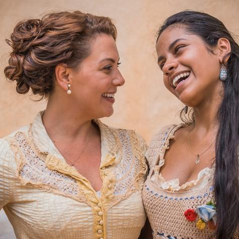Fabiula Nascimento e Larissa Góes (Foto: TV GLOBO/Cauá Franco)