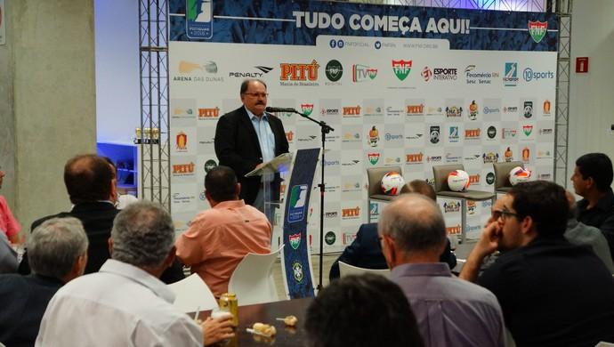 RN - José Vanildo FNF Lançamento Plano Comercial Campeonato Potiguar 2016 (Foto: Jocaff Souza/GloboEsporte.com)