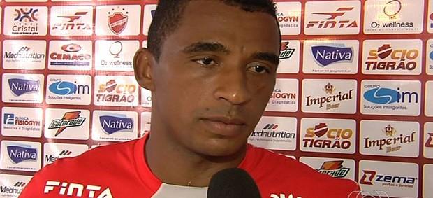 Elcimar, atacante do Vila Nova (Foto: Reprodução/TV Anhanguera)