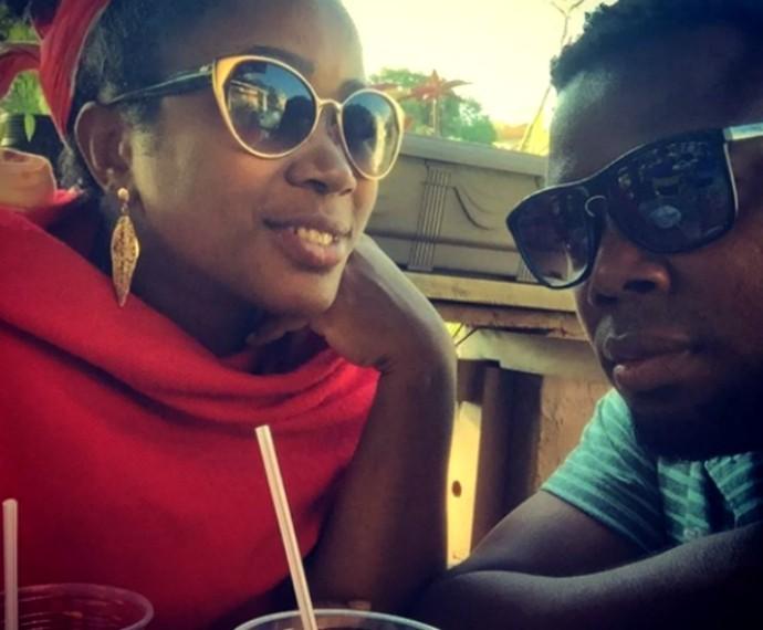 Érico Brás junto da mulher, Kenia Dias, em passeio romântico (Foto: Arquivo Pessoal)