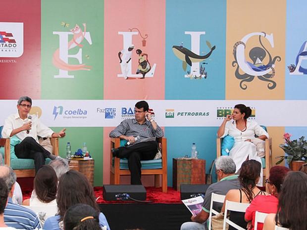 Segunda mesa da Flica desta sexta-feira destacou centenário de escritor Adônias Filho (Foto: Egi Santana/Flica)