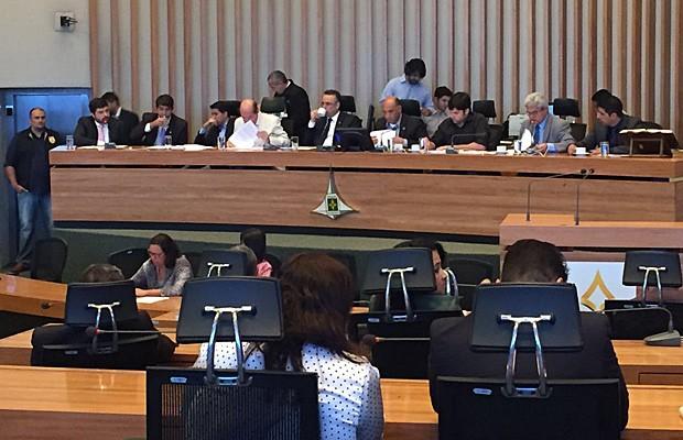 Reunião da CPI da Saúde da Câmara Legislativa do Distrito Federal nesta sexta-feira (5) (Foto: Gabriel Luiz/G1)