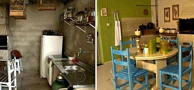 Veja como ficou a varanda da família contemplada no 'Dando um retoque' (Foto: Mais Você - TV Globo)