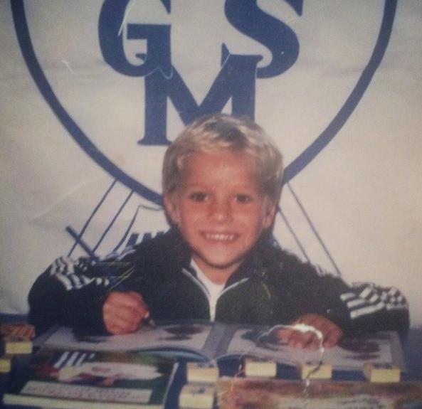 Osvaldo Sagaz quando criança  (Foto: Osvaldo Sagaz/Arquivo pessoal)