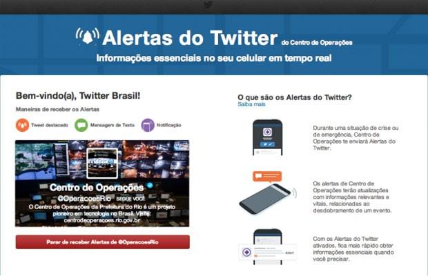 Twitter Alerta, que avisa sobre situações de risco, chega ao Brasil e passa a ser usado pelo Centro de Operações do Rio (Foto: Divulgação)