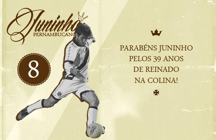 Juninho Pernambucano aniversário arte site Vasco (Foto  Gustavo Rodrigues    Site Oficial do Vasco 62c5b4e20ab5d