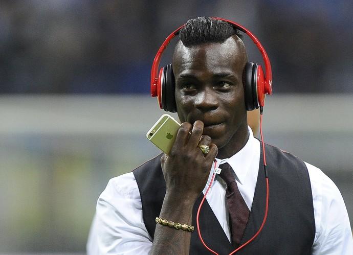 Mario Balotelli - Inter de Milão x Milan (Foto: Giorgio Perottino / Reuters)