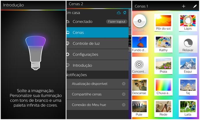 Aplicativo traz diversas cenas pré-configuradas e diversas possibilidades (Foto: Rodrigo Bastos/TechTudo)