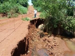 Laguna Carapã é 21º município de MS a decretar emergência após chuvas (Foto: Divulgação/Prefeitura de Laguna Carapã)