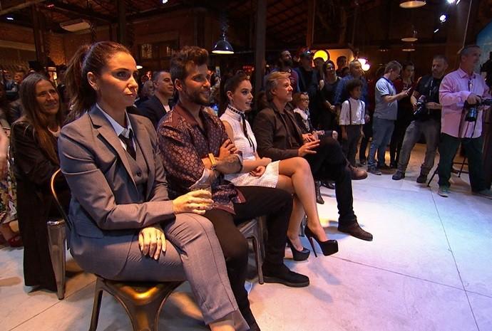 Renata acompanhou a estreia da novela das seis (Foto: De Ponta a Ponta / TV TEM)