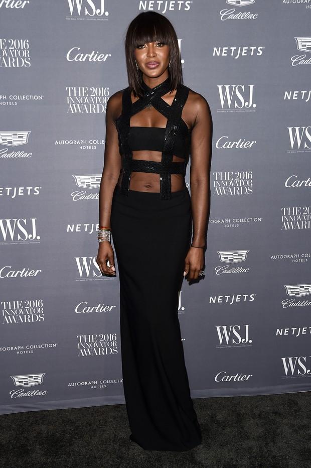 Naomi Campbell em premiação em Nova York, nos Estados Unidos (Foto: Nicholas Hunt/ Getty Images/ AFP)