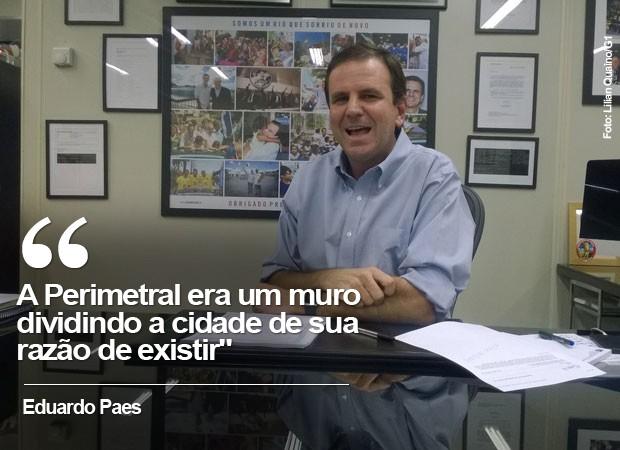 Eduardo Paes fala sobre Olimpíadas e cidade (Foto: Lilian Quaino/G1)