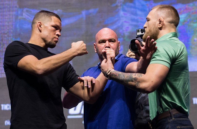 Nate Diaz x Conor McGregor (Foto: Getty Images)