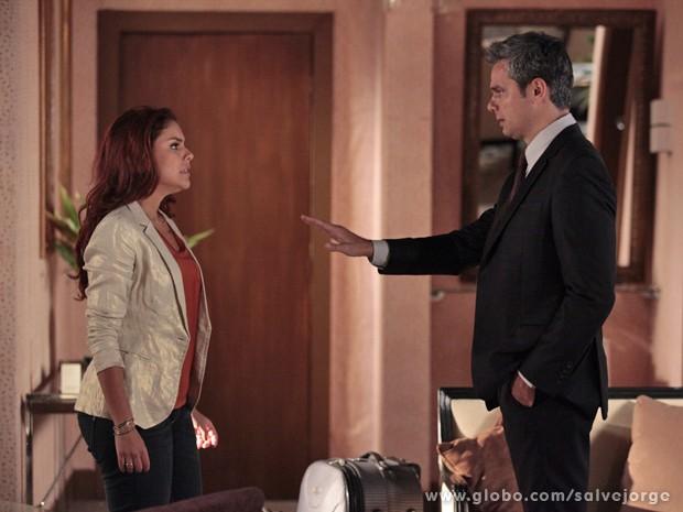 Haroldo pede um tempo para Rosângela (Foto: Salve Jorge/TV Globo)