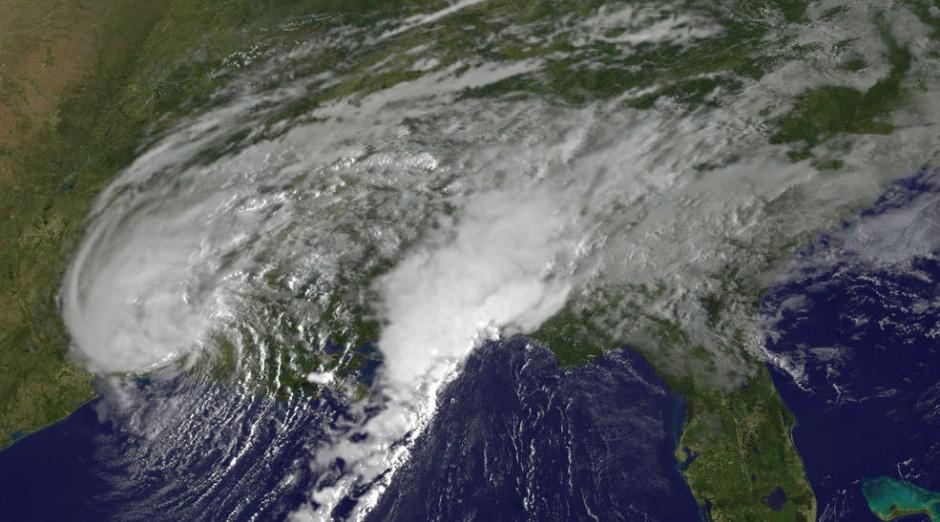 Imagens de satélite da Nasa mostram tempestade Harvey (Foto: Divulgação)