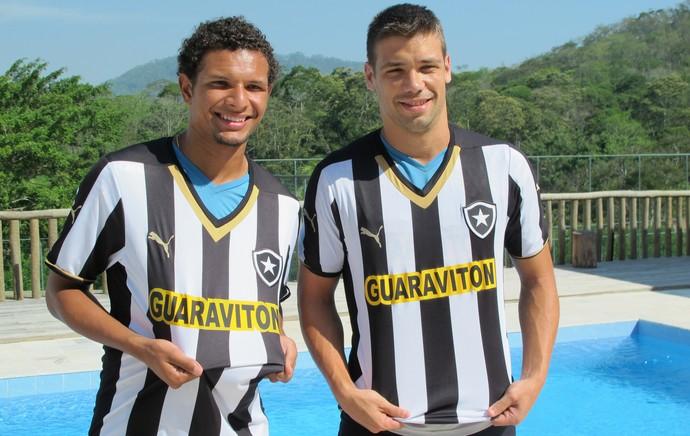 Apresentação Diego Giaretta e Willian Arão Botafogo (Foto: Gustavo Rotstein)