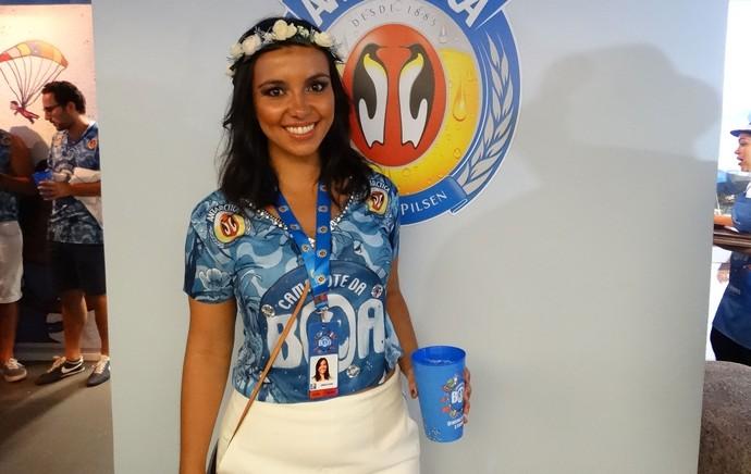 Filha de Dunga, Sapucaí (Foto: Jessica Mello/GloboEsporte.com)