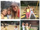 Ticiane Pinheiro vira 'Super Nanny' de Rafinha e amiguinha em parque
