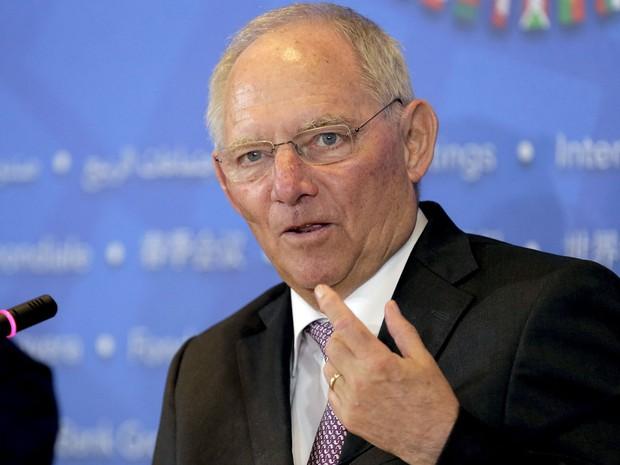 Wolfgang Schaeuble, ministro das Finanças da Alemanha, participa de evento nos Estados Unidos em 16 de abril de 2016 (Foto: Joshua Roberts/Reuters)